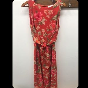 Red Floral Maxi Dress -14